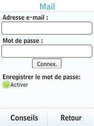 Nokia X3-02 - E-mail - Configurer l