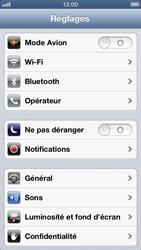 Apple iPhone 5 - Wifi - configuration manuelle - Étape 2