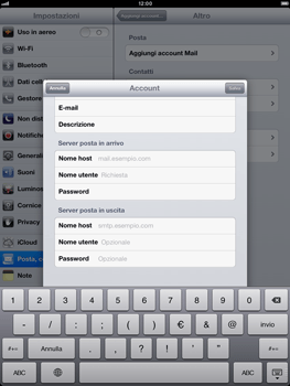 Apple iPad Retina - E-mail - Configurazione manuale - Fase 12