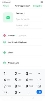 Oppo Reno 2 - Contact, Appels, SMS/MMS - Ajouter un contact - Étape 6