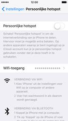 Apple iPhone 5s iOS 10 - WiFi - WiFi hotspot instellen - Stap 9