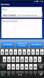 Sony Xperia X10 - E-mail - E-mails verzenden - Stap 6