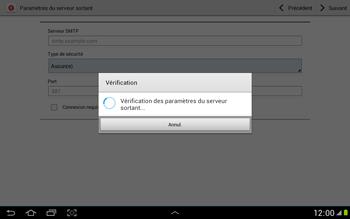 Samsung N8000 Galaxy Note 10-1 - E-mail - Configuration manuelle - Étape 13