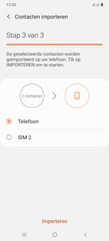 Samsung Galaxy A41 Dual-SIM (SM-A415F) - Contacten en data - Contacten kopiëren van SIM naar toestel - Stap 12