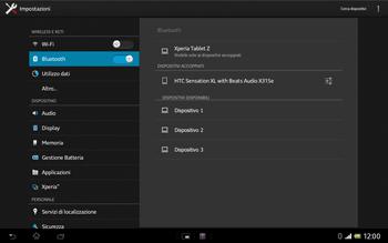 Sony Xperia Tablet Z LTE - Bluetooth - Collegamento dei dispositivi - Fase 8