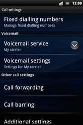 Sony Xperia Mini Pro - Voicemail - Manual configuration - Step 5