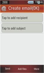 Samsung S5230 Star - E-mail - Sending emails - Step 6