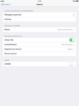 Apple iPad Air iOS 8 - E-mail - configuration manuelle - Étape 25