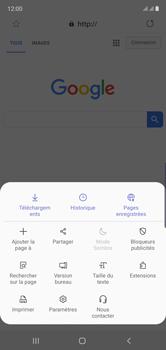 Samsung Galaxy Note 10 - Internet et connexion - Naviguer sur internet - Étape 9