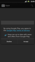 Sony Xperia U - Applications - Setting up the application store - Step 14