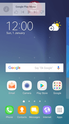 Samsung Galaxy S6 - Android Nougat - Getting started - Installing widgets and applications on your start screen - Step 9