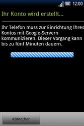 Sony Ericsson Xperia X8 - Apps - Konto anlegen und einrichten - Schritt 16