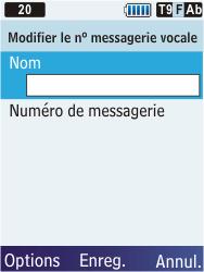 Samsung C3350 Xcover 2 - Messagerie vocale - Configuration manuelle - Étape 7