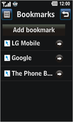 LG GD510 Pop - Internet - Internet browsing - Step 10