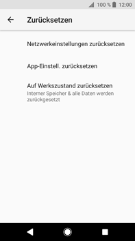 Sony Xperia XA2 Ultra - Fehlerbehebung - Handy zurücksetzen - 8 / 12