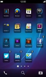 BlackBerry Z10 - Startanleitung - Personalisieren der Startseite - Schritt 6