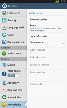 Samsung Galaxy Tab 3 8-0 LTE - Software - Installing software updates - Step 6