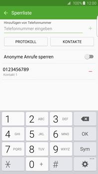 Samsung G928F Galaxy S6 edge+ - Anrufe - Anrufe blockieren - Schritt 11