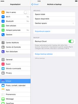 Apple iPad mini iOS 7 - Applicazioni - Configurazione del servizio Apple iCloud - Fase 12