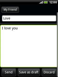 HTC A3333 Wildfire - E-mail - Sending emails - Step 8