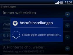 Sony Ericsson Xperia X10 Mini Pro - Anrufe - Rufumleitungen setzen und löschen - Schritt 8