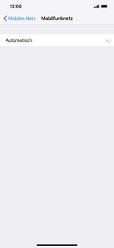 Apple iPhone XS Max - Netzwerk - Manuelle Netzwerkwahl - Schritt 6
