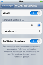 Apple iPhone 3GS - WLAN - Manuelle Konfiguration - Schritt 5