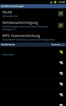 Samsung Galaxy Note - WLAN - Manuelle Konfiguration - 0 / 0