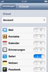Apple iPhone 4S - Apps - Konfigurieren des Apple iCloud-Dienstes - Schritt 8