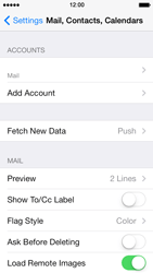 Apple iPhone 5 iOS 7 - E-mail - manual configuration - Step 18