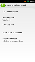 Alcatel One Touch Idol Mini - Internet e roaming dati - disattivazione del roaming dati - Fase 6