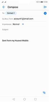 Huawei P20 Pro - E-mail - Sending emails - Step 7