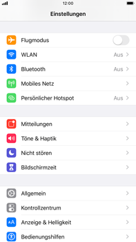 Apple iPhone 6s Plus - iOS 13 - WiFi - So aktivieren Sie einen WLAN-Hotspot - Schritt 3
