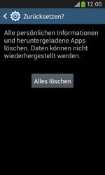 Samsung S7275 Galaxy Ace 3 - Fehlerbehebung - Handy zurücksetzen - Schritt 10