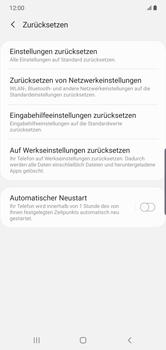 Samsung Galaxy Note 10 Plus 5G - Gerät - Zurücksetzen auf die Werkseinstellungen - Schritt 6