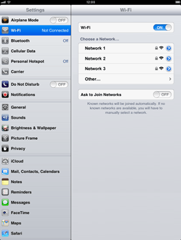 Apple iPad mini - WiFi - WiFi configuration - Step 5