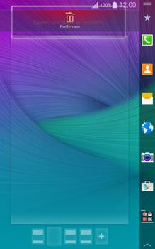 Samsung Galaxy Note Edge - Startanleitung - Installieren von Widgets und Apps auf der Startseite - Schritt 8