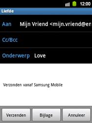 Samsung S5360 Galaxy Y - E-mail - E-mails verzenden - Stap 7