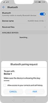 Huawei Mate 20 Lite - Bluetooth - Pair with another device - Step 7