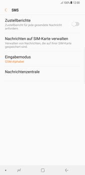 Samsung Galaxy S8 Plus - SMS - Manuelle Konfiguration - 8 / 11