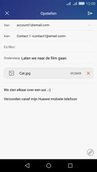 Huawei Y6 - E-mail - E-mails verzenden - Stap 16