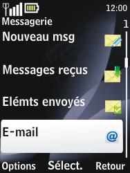 Nokia 2730 classic - E-mail - envoyer un e-mail - Étape 3