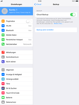 Apple iPad Mini 4 - Software - iCloud synchronisieren - 6 / 10