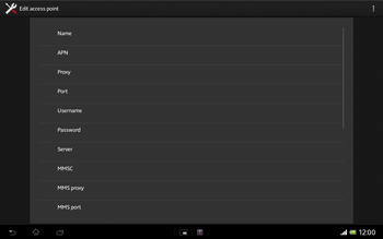 Sony Xperia Tablet Z LTE - MMS - Manual configuration - Step 10