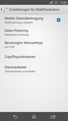 Sony E2003 Xperia E4G - Netzwerk - Netzwerkeinstellungen ändern - Schritt 8
