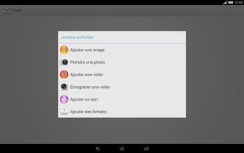 Sony Xperia Tablet Z2 (SGP521) - E-mail - envoyer un e-mail - Étape 10