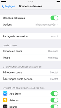 Apple iPhone 6 Plus iOS 10 - Internet - désactivation du roaming de données - Étape 4