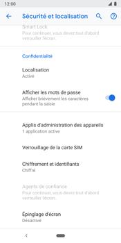 Google Pixel 3 - Sécuriser votre mobile - Personnaliser le code PIN de votre carte SIM - Étape 6