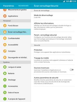 Samsung Galaxy Tab A - Sécuriser votre mobile - Activer le code de verrouillage - Étape 12