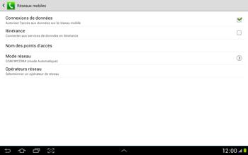 Samsung N8000 Galaxy Note 10-1 - Réseau - utilisation à l'étranger - Étape 9